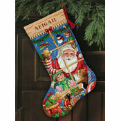 Santa's Toys Stocking Cross Stitch Kit