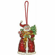 Santa Ornament Cross Stitch Kit