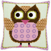 Miss Owl Chunky Cross Stitch Cushion Front Kit