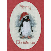 Penguin Christmas Card Cross Stitch Kit