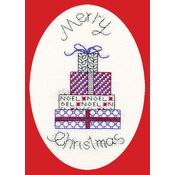 Posh Presents Cross Stitch Christmas Card Kit