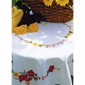 Poppies Tablecloth Embroidery Kit