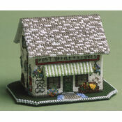 The Village Shop 3D Cross Stitch Kit