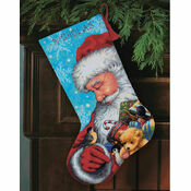 Santa And Toys Stocking Tapestry Kit