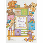 Baby Drawers Cross Stitch Kit Birth Record