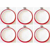 "Stitch Garden Set of 6 Embroidery Flexi Hoops - Red (3"")"