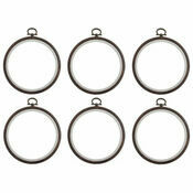 "Stitch Garden Set of 6 Wood Grain Embroidery Flexi Hoops (4"")"
