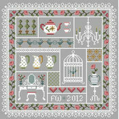 Shabby Chic Cross Stitch Kit