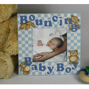 Bouncing Baby Boy Stitch A Frame Cross Stitch Kit