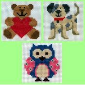 1st Cross Stitch Best Sellers For Kids - Zoe, Toby, Ed (Set Of 3)