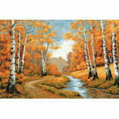 Golden Grove Cross Stitch Kit