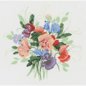 Sweet Pea Posy Cross Stitch Kit