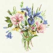 Wild Flower Posy Cross Stitch Kit