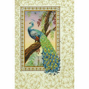 Renaissance Peacock Cross Stitch Kit