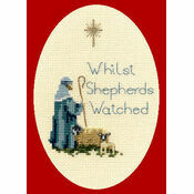 Shepherd Cross Stitch Christmas Card Kit