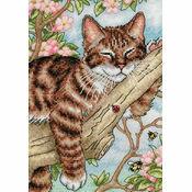 Napping Kitten Cross Stitch Kit