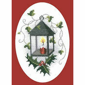 Lantern Christmas Card Cross Stitch Kit