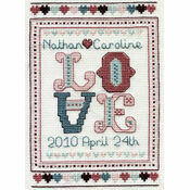 Love Wedding Sampler Cross Stitch Kit