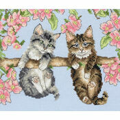 Hanging Around Kittens Cross Stitch Kit
