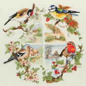 Birds & Seasons Cross Stitch Kit