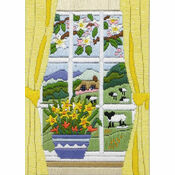 Spring Through The Window Long Stitch Kit