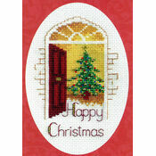 Warm Welcome Cross Stitch Christmas Card Kit