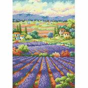Fields Of Lavender Cross Stitch Kit