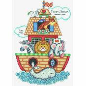 Noah\'s Ark Birth Sampler Cross Stitch Kit