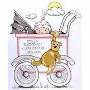Buggy Girl Birth Sampler Cross Stitch Kit