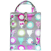 Tea Cups & Floral Stripe - Shopper Bag Kit