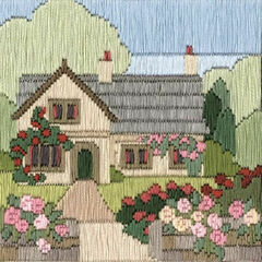 Rambling Rose Cottage Long Stitch Kit