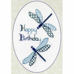 Dragonfly Birthday Cross Stitch Card Kit