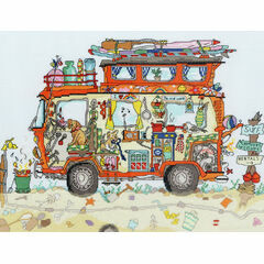 Cut Thru' Camper Van Cross Stitch Kit