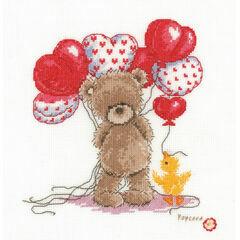 Popcorn Bear - Lovely Balloons Cross Stitch Kit