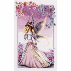 Purple Fairy at Twilight Cross Stitch Kit