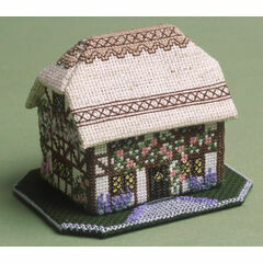 Foxglove Cottage 3D Cross Stitch Kit