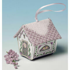 Parma Violets Gingerbread House 3D Cross Stitch Kit