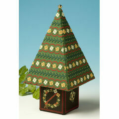 Red & Gold Tall Tree 3D Cross Stitch Kit