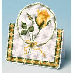 Yellow Rose Card 3D Cross Stitch Kit