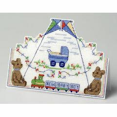 Baby Boy Card 3D Cross Stitch Kit
