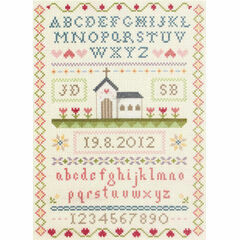 Classic Wedding Sampler Cross Stitch Kit