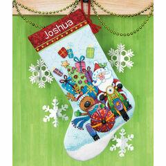 Santa's Sidecar Stocking Cross Stitch Kit