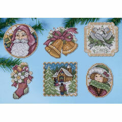 Victorian Christmas Ornaments Cross Stitch Kit (Set of 6)