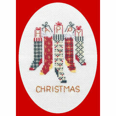 Christmas Stockings Card Cross Stitch Kit