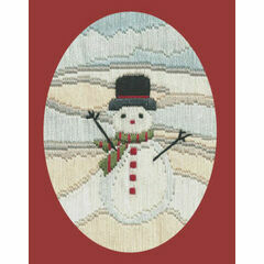 Frosty Snowman Long Stitch Christmas Card Kit