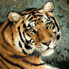Siberian Tiger Face Cross Stitch Kit