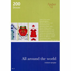 All Around The World Cross Stitch Chart Book