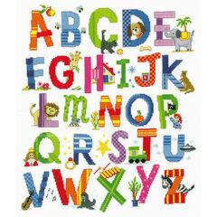 Children's Alphabet Sampler Cross Stitch Kit