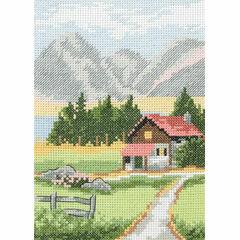 Alpine Lodge Starter Cross Stitch Kit