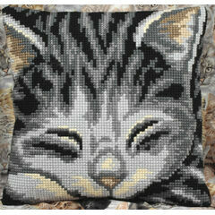 Jasmine Cat Cushion Panel Cross Stitch Kit